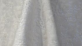 """Image of a Tablecloth Lace 90"""" Round Ivory"""