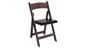 Image of a Garden Style Chair Dark Wood