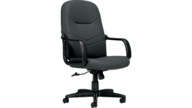 Image of a Tilting Swivel Black Chair