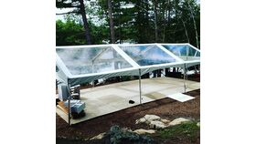 Image of a 30' x 45' Frame Gable End Clear Top