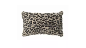 Image of a Black Leopard Lumbar Pillow