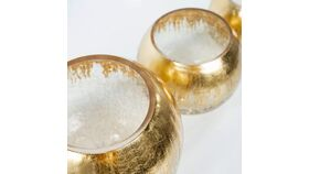 Image of a Stephen- Bubble Vase with Gold and crackle accents