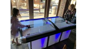Image of a LED Air Hockey Table