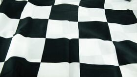 Image of a 3'x5' Black & White Checkered Flag