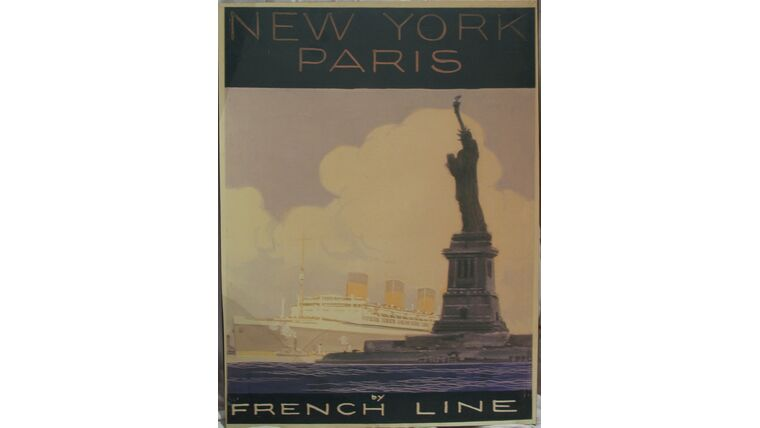 """Picture of a """"French Line"""" Hanging Canvas"""