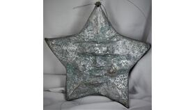 "Image of a 10"" Silver Face Star"