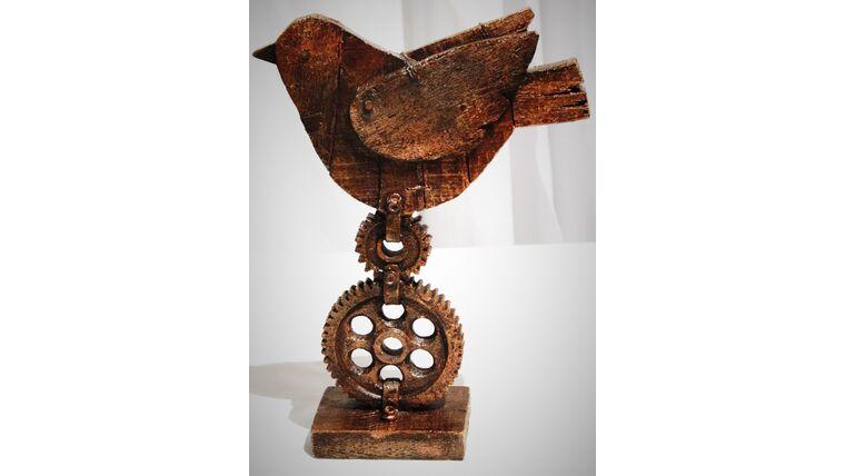 "Picture of a 15"" Steampunk Bird Centerpiece"