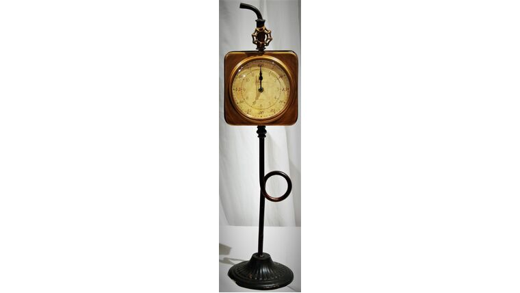 "Picture of a 28"" Steampunk Clock Centerpiece"