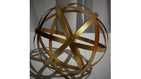 "Image of a 10"" Metal Gold Sphere"