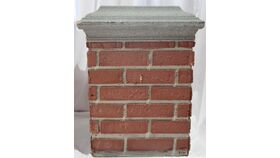 "Image of a 26"" Lipped Faux Brick Pillar"