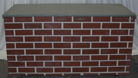 "Image of a 30"" Lipped Faux Brick/Concrete Wall"