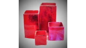 "Image of a 10"" Red Ceramic Square"