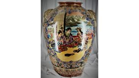 Image of a 2' Decorative Asian Vase