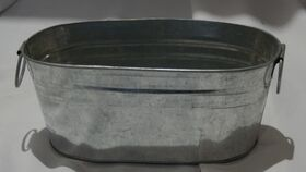 "Image of a 10"" Oval Metal Tub"