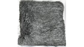 Image of a Black/Silver Fuzzy Pillow