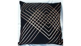 Image of a Black/Gold Geometry Pillow