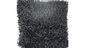 Image of a Black Thick Haired Fuzzy Pillow