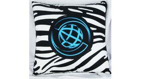 Image of a Blue/Zebra Pattern Pillow