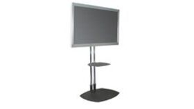 "Image of a 70"" LG HD Monitor on Premier Dual Post Stand"