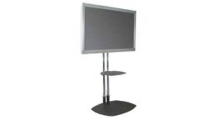 """Picture of a 70"""" LG HD Monitor on Premier Dual Post Stand"""