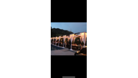 Image of a 10'x10' Rustic Wood Cabana W/ Fabric