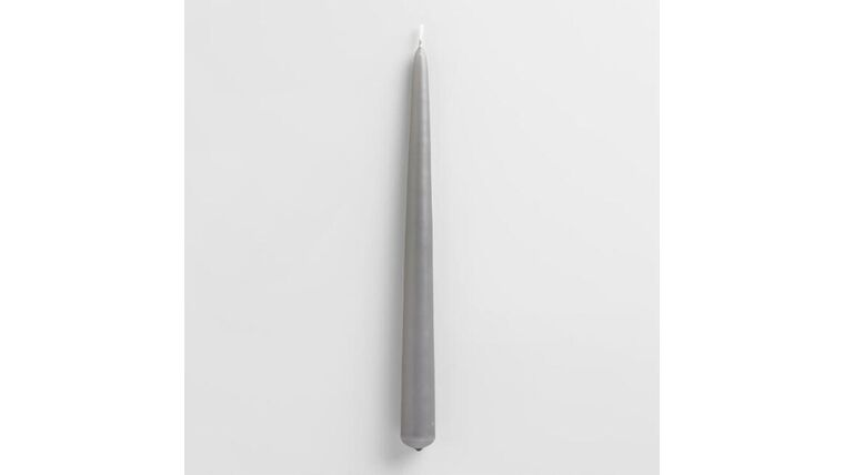 """Picture of a 10"""" Gray Taper Candle"""
