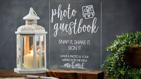 Image of a Acrylic Photo Guestbook Sign