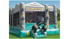 Image of a Dino moon bounce obstacle