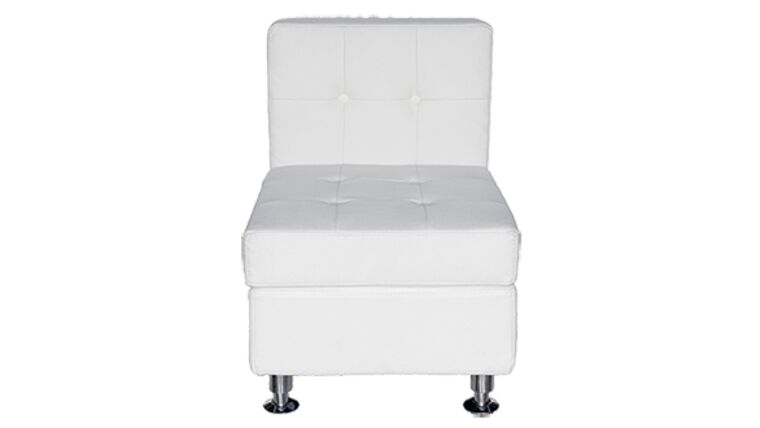 Picture of a White Lowback Middle Chair