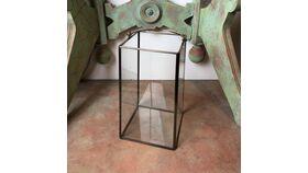 "Image of a 10"" Bronze Metal & Glass Lantern"