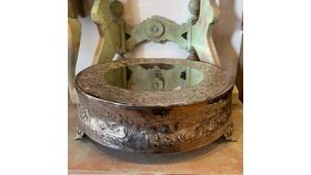 """Image of a 18"""" Round Silver Cake Plateau"""