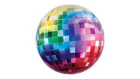 Image of a Rainbow Disco Ball