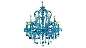 Image of a Blue Chandelier