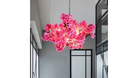 Image of a Pink Chandelier
