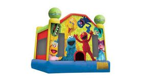Image of a Sesame Street Bounce House.