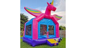 Image of a Unicorn Bounce House