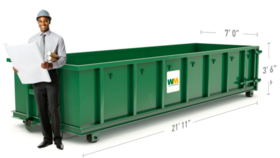 Image of a 20 Yard Dumpster