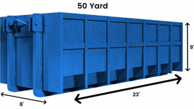 Image of a 50 Yard Dumpster