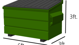 Image of a 4x4 Dumpster