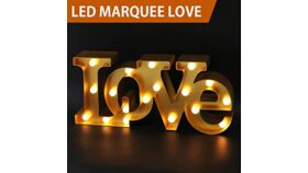"""Image of a """"LOVE"""" Sign - Gold"""
