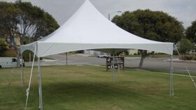 Image of a 20 x 20 frame tent
