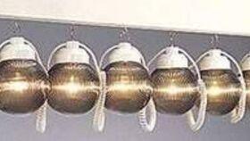 Image of a Bronze Globe Lights