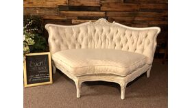 Image of a Vintage Sectional Sofa with Gold Accents