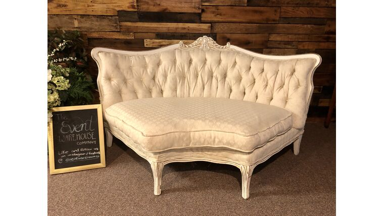 Picture of a Vintage Sectional Sofa with Gold Accents