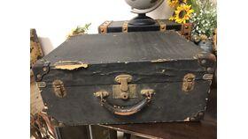Image of a Black Vintage Luggage