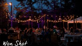 Image of a 100' Outdoor Market Lights - Commercial Grade
