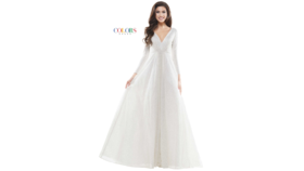 Image of a Colors Gown #2594 size 12 Off-white
