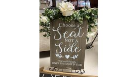 """Image of a """"Chose a Seat Not a Side"""" Wood Sign"""