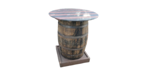 Image of a Barrel Highboy Table