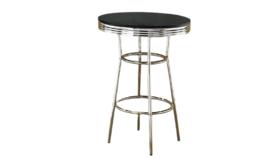 Image of a Black Diner Highboy Table